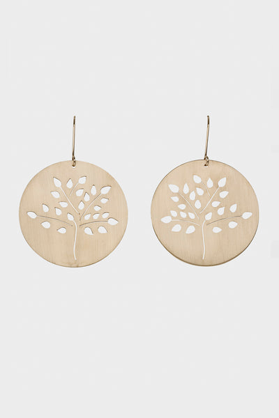 Large Apple Tree Earrings