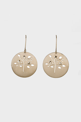 Small Spring Tree Earrings