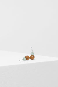 Frosted Sphere Earrings