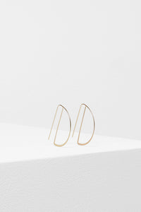 Metal Arc Earrings