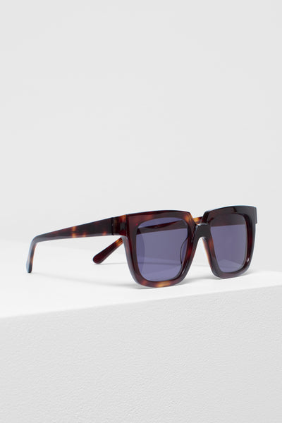 Ara Thick Cut Square Framed Sunglasses Side Angled Tortoise Shell