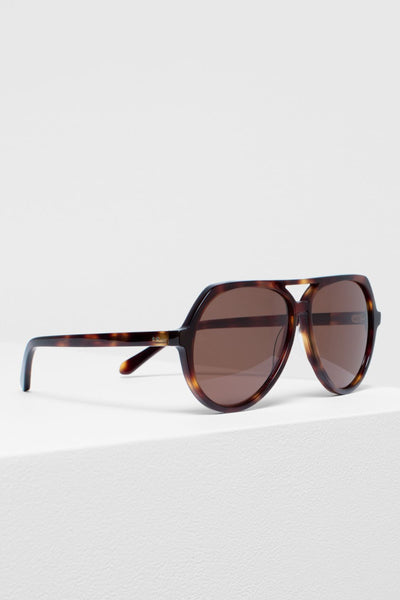Orden Aviator Sunglasses Side Angled Tortoise Shell