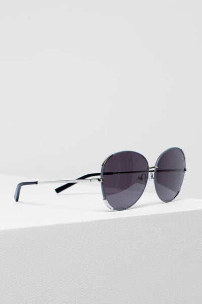 Velta Aviator Sunglasses Side Angled | Grey & Silver