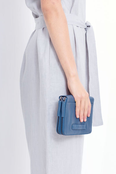 Blue Arien Travel Wallet