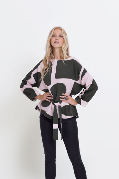 Boulder Print Long Sleeve Top