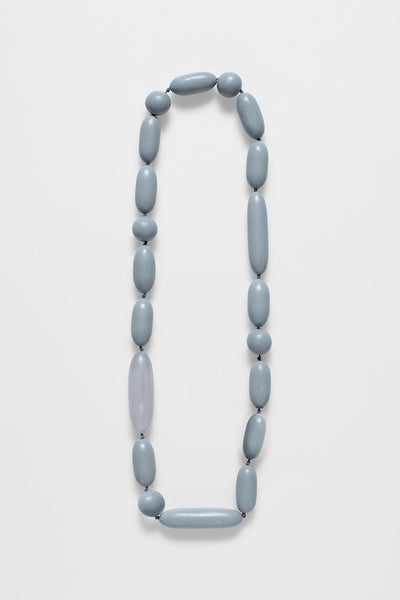 Oval Bead Long Necklace