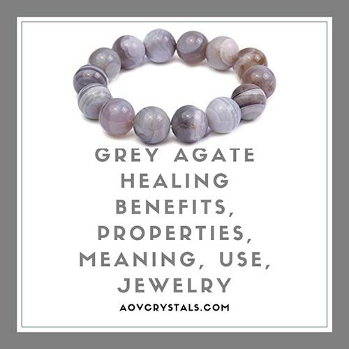 Grey Agate Healing Benefits Properties Meaning Use Jewelry