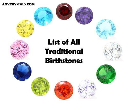 All Traditional Birthstones