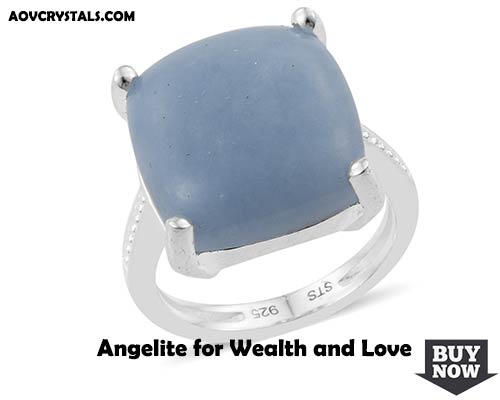 Angelite for Wealth and Love