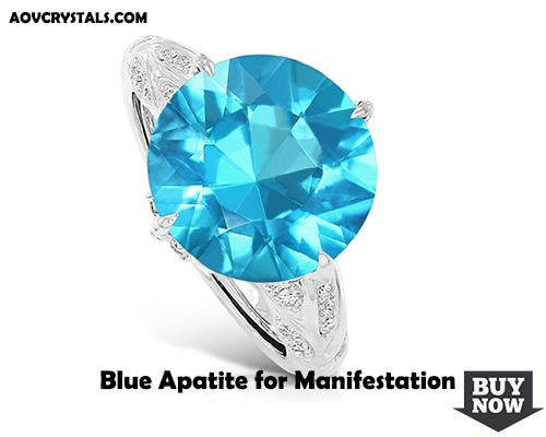 Blue Apatite for Manifestation