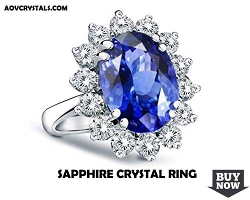Blue Sapphire Crystal Ring