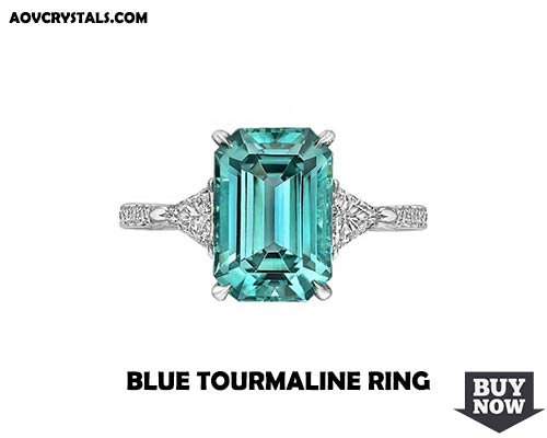 Blue Tourmaline Gemstone Ring