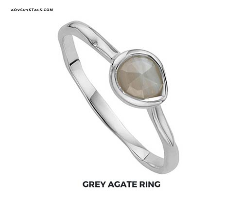 Grey Agate Ring