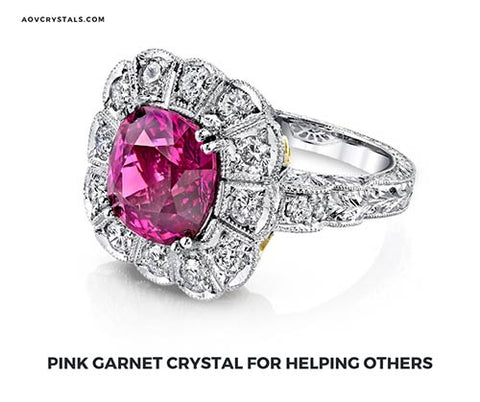 Pink Garnet Crystal for Helping Others
