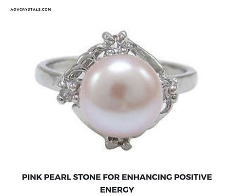 Pink Pearl Ring for Enhancing Positive Energy