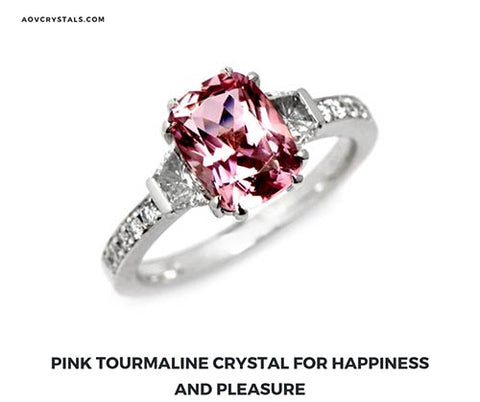 Pink Tourmaline Crystal for Happiness and Pleasure