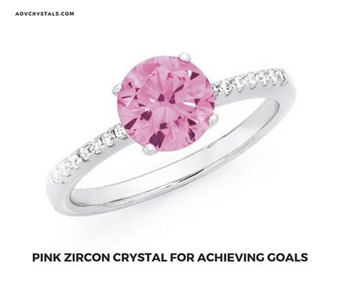 Pink Zircon Crystal for Achieving Goals