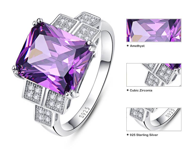 Plant Natural Purple Amethyst 9.8 ct Ring for Women