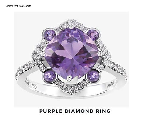 Purple Diamond Ring