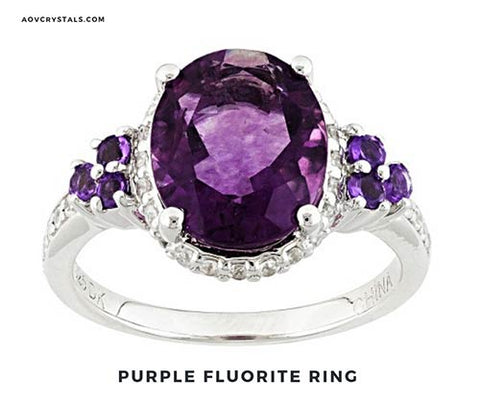 Purple Fluorite Ring