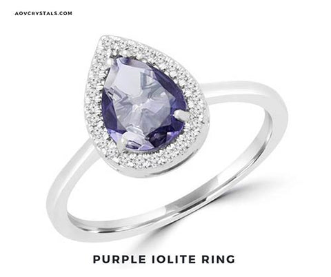 Purple Iolite Ring