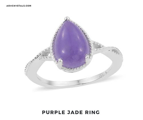Purple Jade Ring