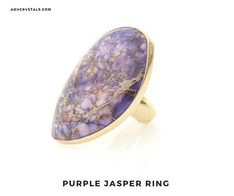Purple Jasper Ring