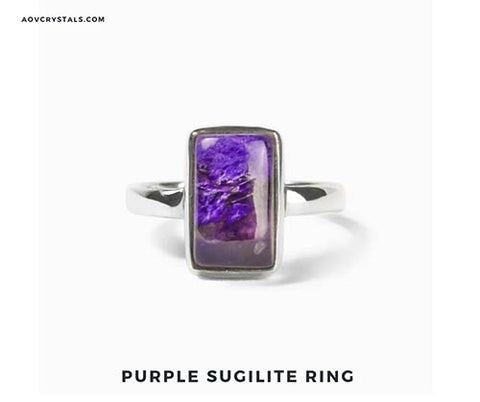 Purple Sugilite Ring