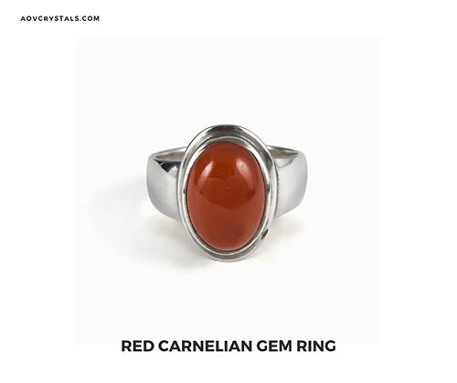 Red Carnelian Gem Ring