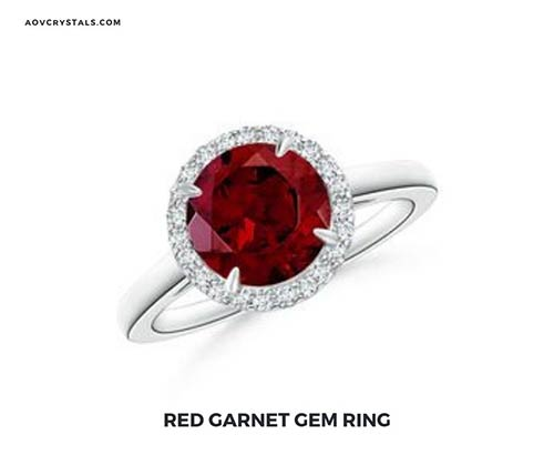 Red Garnet Gem Ring
