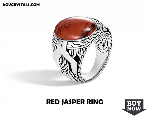 Red Jasper Crystal Ring