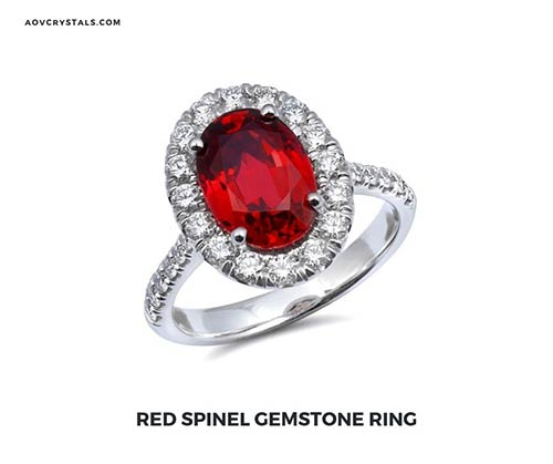 Red Spinel Gemstone Ring