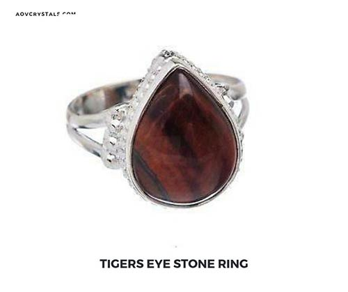 Red Tigers Eye Stone Ring