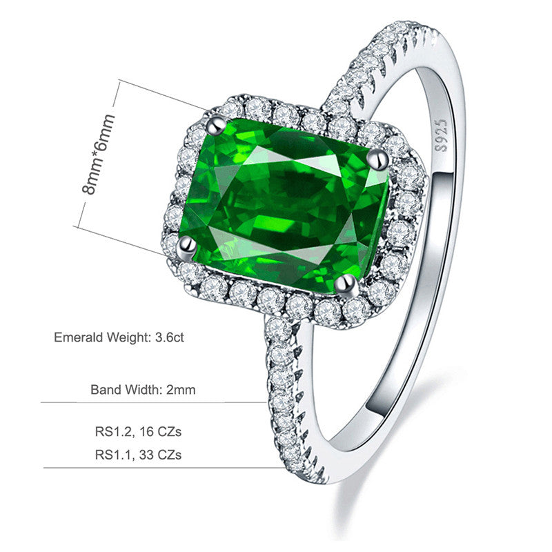 Vintage Style 3.6 carat Green Emerald Ring for Women