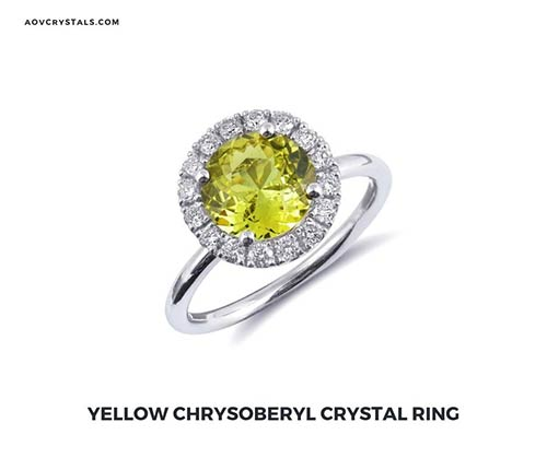 Yellow Chrysoberyl Gemstone Ring