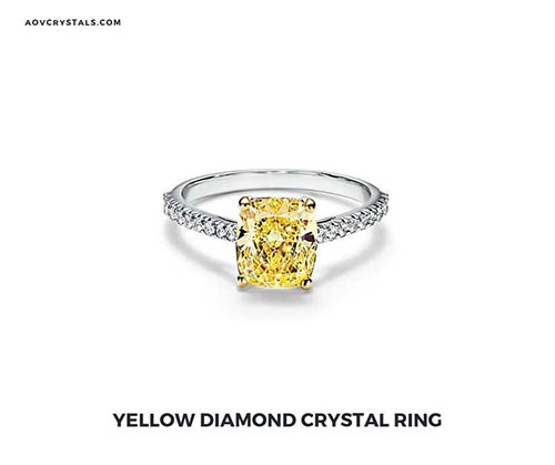 Yellow Diamond Crystal Ring
