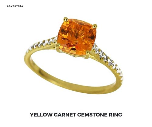 Yellow Garnet Gemstone Jewelry