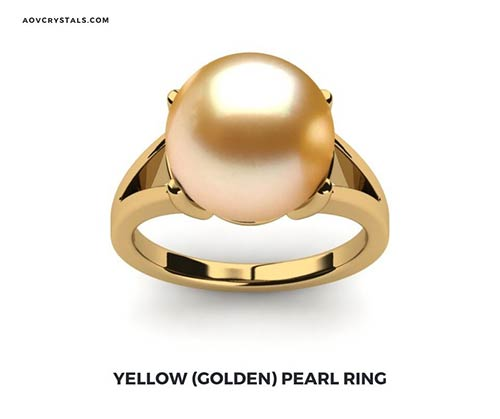 Yellow Golden Pearl Ring