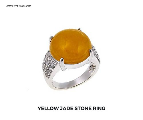 Yellow Jade Stone Ring