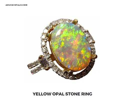 Yellow Opal Stone Ring