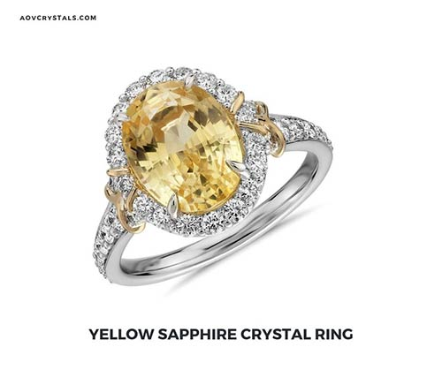 Yellow Sapphire Crystal Ring