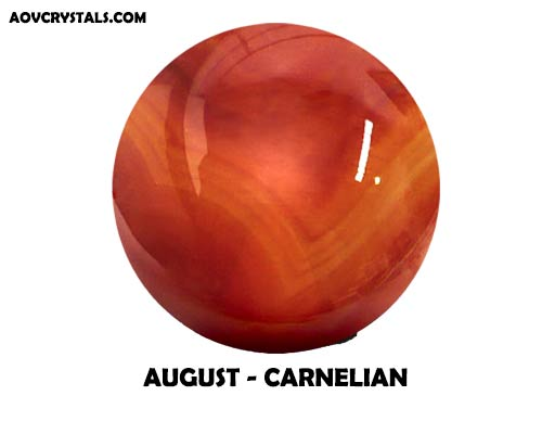 Carnelian - Traditional August Birthstone