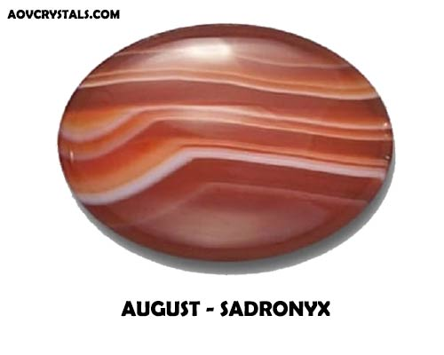 Sardonyx - Traditional August Birthstone