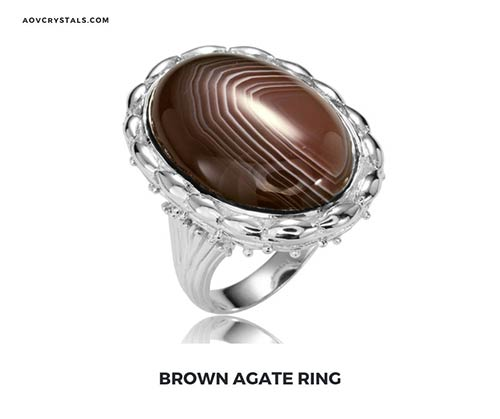 brown agate ring