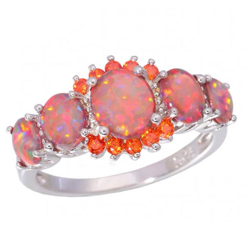 Breathtaking Orange Fire Opal Ring