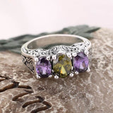Gorgeous 2 Color Cubic Zircon Ring for Women