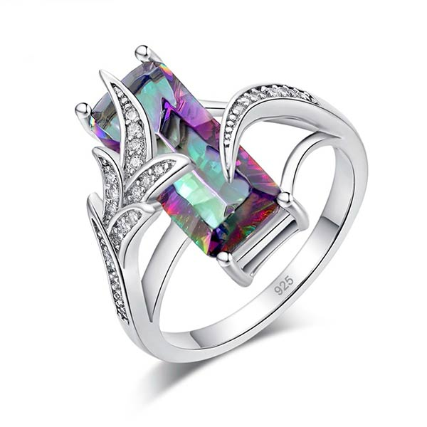 Mesmerizing Fashionable Rainbow Topaz Ring