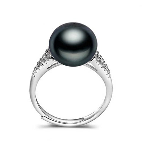Vintage Silver Ring from Natural Freshwater Pearls
