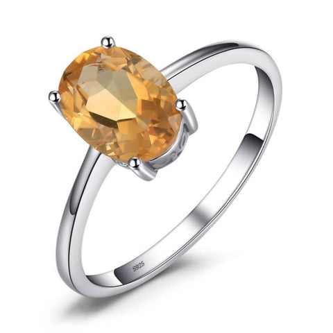 Trendy Oval 1.1 Carat Natural Citrine Gemstone Ring - Ring