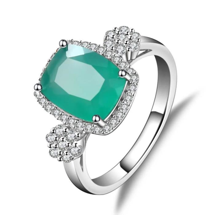 Vintage Collection Green Agate Gemstone Ring For Women - Ring